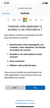Apple iPhone X - E-mail - Configuration manuelle (outlook) - Étape 8