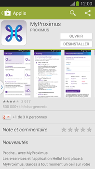 Samsung I8190 Galaxy S III Mini - Applications - MyProximus - Étape 9