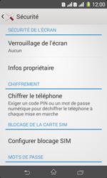 Sony Xpéria E1 Dual - Sécuriser votre mobile - Personnaliser le code PIN de votre carte SIM - Étape 5