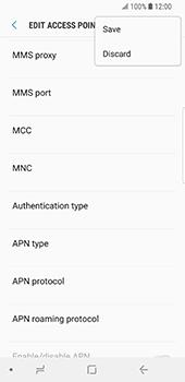 Samsung Galaxy S9 - Mms - Manual configuration - Step 15