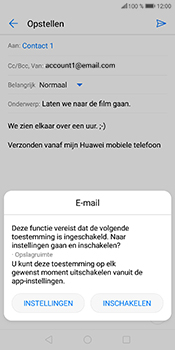 Huawei P Smart (Model FIG-LX1) - E-mail - Bericht met attachment versturen - Stap 13