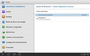 Samsung P7500 Galaxy Tab 10-1 - Bluetooth - Conectar dispositivos a través de Bluetooth - Paso 8