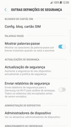 Samsung Galaxy S7 Edge - Android Nougat - Segurança - Como ativar o código PIN do cartão de telemóvel -  6