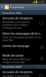 Samsung S7390 Galaxy Trend Lite - SMS - Configuration manuelle - Étape 6
