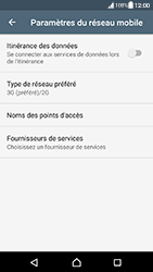 Sony Xperia XA (F3111) - Android Nougat - Réseau - Activer 4G/LTE - Étape 6