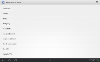 Samsung P7500 Galaxy Tab 10-1 - Internet - Configurar Internet - Paso 10