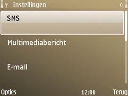 Nokia E72 - SMS - Handmatig instellen - Stap 5