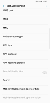 Samsung Galaxy Note 8 - MMS - Manual configuration - Step 12