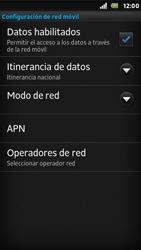 Sony Xperia U - Internet - Activar o desactivar la conexión de datos - Paso 6