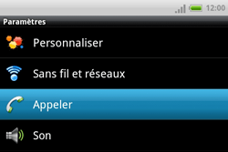 HTC A810e ChaCha - Messagerie vocale - Configuration manuelle - Étape 4