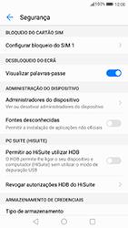 Huawei P8 Lite (2017) - Segurança - Como ativar o código PIN do cartão de telemóvel -  5