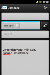Sony C1505 Xperia E - Email - Sending an email message - Step 8