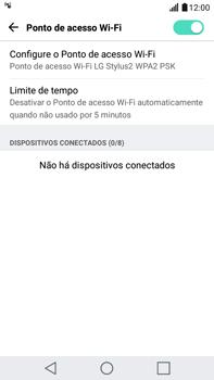 LG G5 Stylus - Wi-Fi - Como usar seu aparelho como um roteador de rede wi-fi - Etapa 10