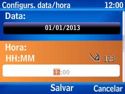 Nokia Asha 302 - Funções básicas - Como configurar data e hora - Etapa 7