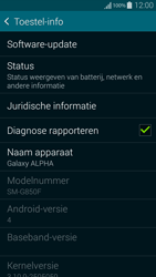 Samsung G850F Galaxy Alpha - Software update - update installeren zonder PC - Stap 5