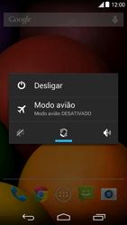 Motorola Moto E (1st Gen) (Kitkat) - Funções básicas - Como reiniciar o aparelho - Etapa 3