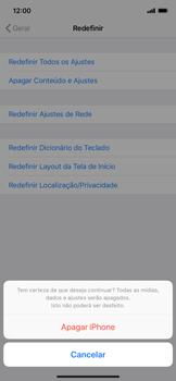Apple iPhone XR - Funções básicas - Como restaurar as configurações originais do seu aparelho - Etapa 7