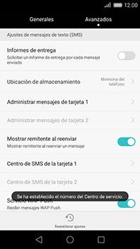 Huawei GX8 - Mensajería - Configurar el equipo para mensajes de texto - Paso 7