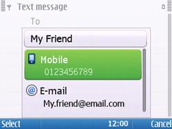 Nokia E5-00 - Mms - Sending a picture message - Step 6