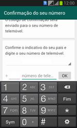 Samsung Galaxy Fresh Duos - Aplicações - Como configurar o WhatsApp -  6