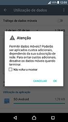 Sony Xperia XA (F3111) - Internet no telemóvel - Como ativar os dados móveis -  6