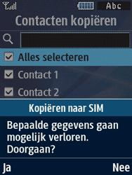Samsung B2710 Xcover 271 - Contacten en data - Contacten kopiëren van toestel naar SIM - Stap 9