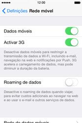 Apple iPhone 4S iOS 8 - Internet no telemóvel - Como ativar os dados móveis -  5