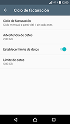Sony Xperia XA1 - Internet - Ver uso de datos - Paso 14