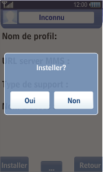 Samsung S8500 Wave - MMS - Configuration automatique - Étape 6