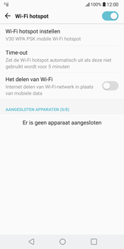 LG V30 (LG-H930) - WiFi - Mobiele hotspot instellen - Stap 11
