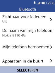 Nokia 8110-ta-1071 - Bluetooth - Headset, carkit verbinding - Stap 6