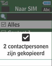 Samsung E1270 - Contacten en data - Contacten kopiëren van toestel naar SIM - Stap 10