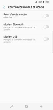 Samsung Galaxy S8 - Internet et connexion - Utiliser le mode modem par USB - Étape 8