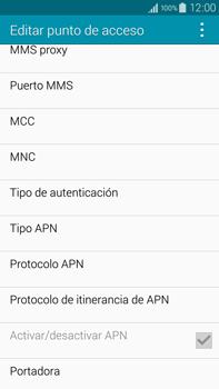 Samsung N910F Galaxy Note 4 - Mensajería - Configurar el equipo para mensajes multimedia - Paso 12
