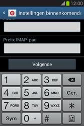 Samsung S6810P Galaxy Fame - E-mail - e-mail instellen: IMAP (aanbevolen) - Stap 11