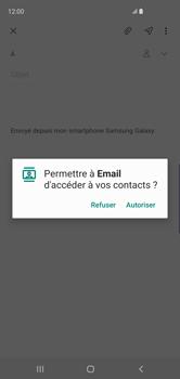 Samsung Galaxy S10 - E-mail - envoyer un e-mail - Étape 5