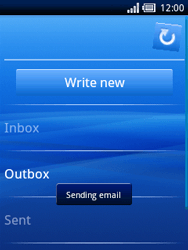 Sony Ericsson Xperia X10 Mini - Email - Sending an email message - Step 12
