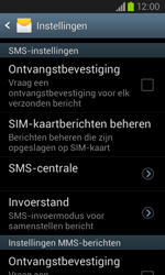 Samsung Galaxy Core (I8260) - SMS - SMS-centrale instellen - Stap 6