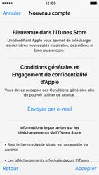 Apple iPhone 5s iOS 9 - Applications - Créer un compte - Étape 10