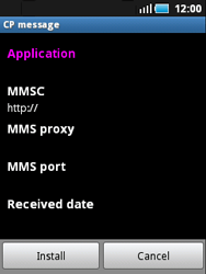 Samsung S5570 Galaxy Mini - MMS - Automatic configuration - Step 6