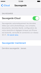 Apple iPhone 5 iOS 10 - Device maintenance - Back up - Étape 13