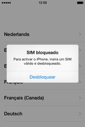 Apple iPhone 4S iOS 8 - Primeiros passos - Como ligar o telemóvel pela primeira vez -  4