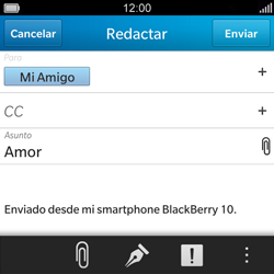 BlackBerry Q5 - E-mail - Escribir y enviar un correo electrónico - Paso 10