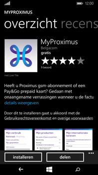 Microsoft Lumia 640 XL - Applicaties - MyProximus - Stap 8