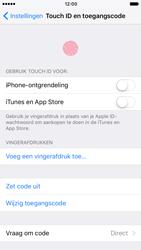 Apple iPhone 7 (Model A1778) - Beveiliging en ouderlijk toezicht - Toegangscode instellen - Stap 13