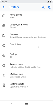 Google Pixel 3 - Device - Software update - Step 7