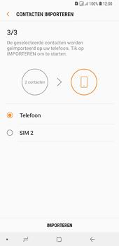 Samsung galaxy-a6-plus-sm-a605fn-ds - Contacten en data - Contacten kopiëren van SIM naar toestel - Stap 13