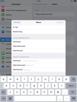 Apple iPad Pro (9.7) - E-mail - e-mail instellen: IMAP (aanbevolen) - Stap 12