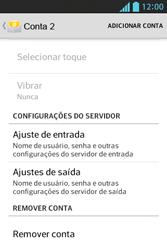 LG Optimus L5 - Email - Como excluir uma conta de e-mail - Etapa 7