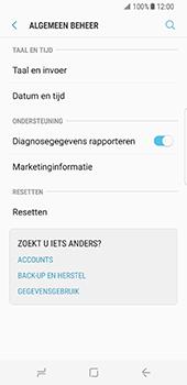 Samsung Galaxy S8 (G950) - Instellingen aanpassen - Fabrieksinstellingen terugzetten - Stap 5